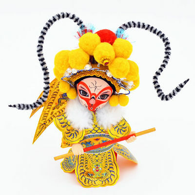 China Beijing Chinese Peking Opera Monkey King Silk Dolls Handmade Crafts Gifts