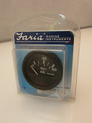Faria Boat Gauge Euro Black Instruments Oil Gauge 12803