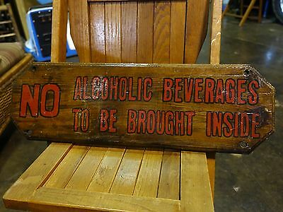 Old Wooden Advertising Sign