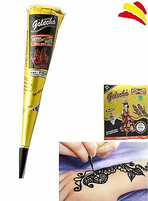 HENNA NATURAL PARA TATUAJES TEMPORALES PASTA PINTURA TATTOO 25g COLOR NEGRO
