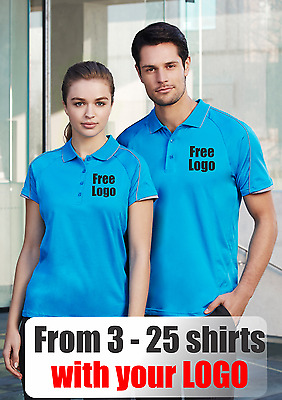 From 3 - 25 shirts Mens Blade Polo with Your Embroidered LOGO (Biz P303MS)