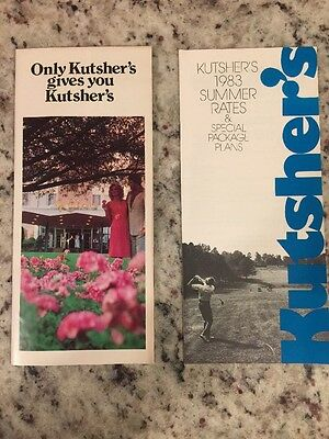 Catskills Kutsher's Country Club Brochure And 1983 Summer Rate Brochure