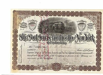 Port Jervis Monticello and New York Railroad  1895