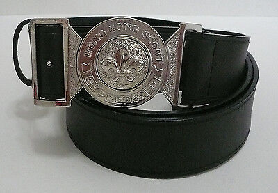 SCOUTS OF HONG KONG - YOUTH & SCOUT LEADER Official Uniform Metal Buckle & Belt