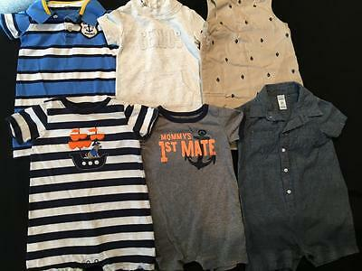 Boys 24 Months Carter's Spring Summer One Piece Outfit Romper Clothes Lot B67