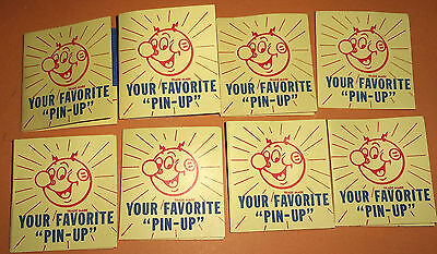 Lot Of 8 Vintage Nos Reddy Kilowatt Pins In Packet Atomic Nuclear Age Sce 1955