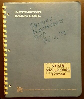 Tektronix 5103N oscilloscope system instruction manual vintage service booklet