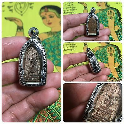 Beautiful Thai Buddha Amulet Talisman Pendant Luck Rich Attracted Protected 2