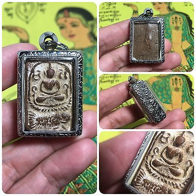 Beautiful Thai Buddha Amulet Talisman Pendant Luck Rich Attracted Protected 6
