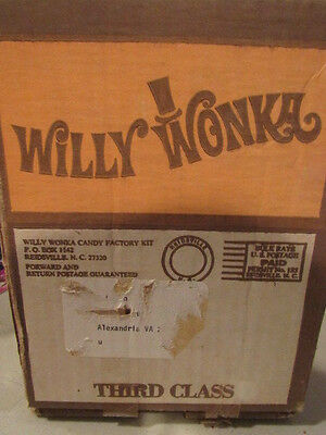 Vintage WILLY WONKA CANDY FACTORY KIT 1970's Molds Manual candy wrappers NEW
