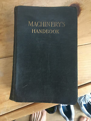 Antique 5Th Edition Machinery's Handbook For Machine Shop And Drafting-Room 1919