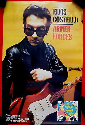 Elvis Costello 1979 mint poster Armed Forces ABSOLUTELY FLAWLESS
