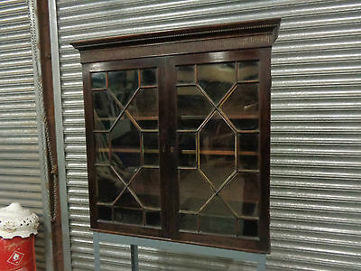An Antique Victorian Mahogany Astragal Glazed Bookcase Side Cabinet Cupboard