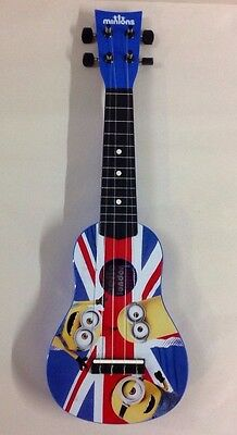 Minions Acoustic Guitar Great Britain Flag Ukuele England Toy Music Instrument