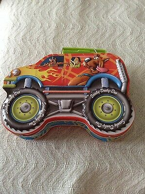 Metal~Scooby Dooby Doo~Lunch Box~Pail~Van~Monster Truck~Hanna-Barbera~Decor~