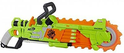 New Kids Soft Dart Guns Nerf Zombie Strike Brainsaw Blaster Chainsaw Toy Gun S