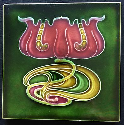 Art Nouveau WATERLILLY T&R Majolica Pottery Porcelain Tile England Arts & Craft