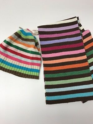 Aeropostale rainbow color set hat scarf