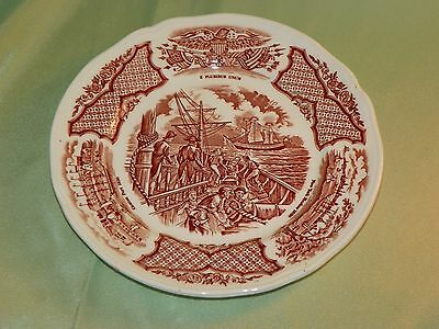 """Alfred Meakin Staffordshire England """"Fair Winds"""" Plate, Chinese Export"""