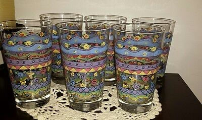 Sweet Shoppe By Sango Tall Drinking Glasses 16 oz. Set of 6