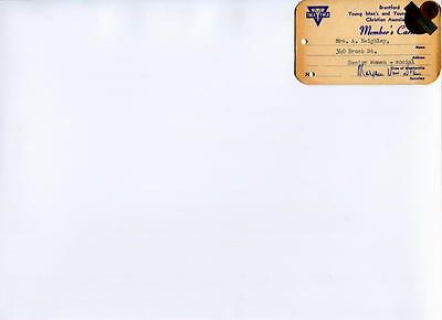 Y.m.c.a. Ymca Y.w.c.a. Ywca Members Card 10 Year Continuous Membership 1959