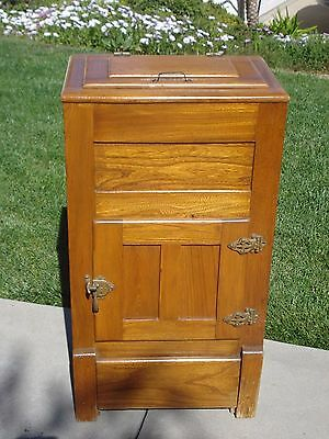 Antique Oak Ice Box from Early 1900's, vintage!
