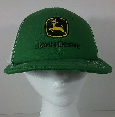 JOHN DEERE Baseball hat Cap Mesh Green White Deer