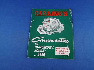 Carlings Conservation For To-Morrows Holiday 1950 Booklet Fishing Regulations