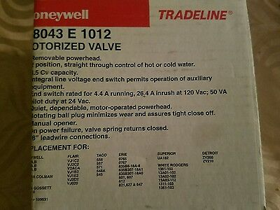 Honeywell zone valve 3/4 sweat