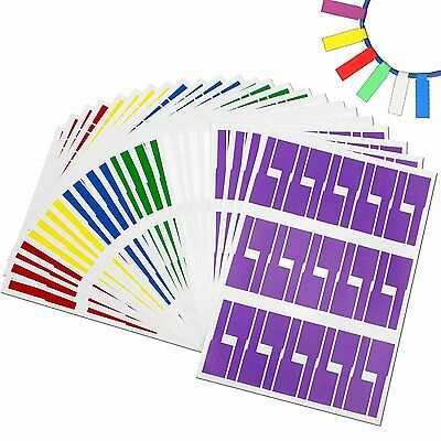 24 Sheets Self-adhesive Cable Labels Waterproof & Durable for Printers