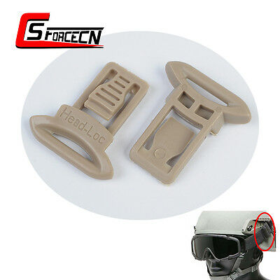 Paintball Tactical Helmet Goggle Swivel Clip Set for MICH FAST ACH Helmet Rails