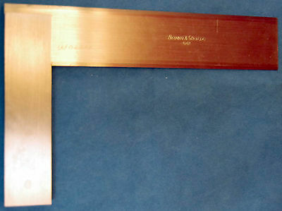 Brown & Sharpe- Precision- Solid Bevel Edge Toolmakers Square -Made in USA