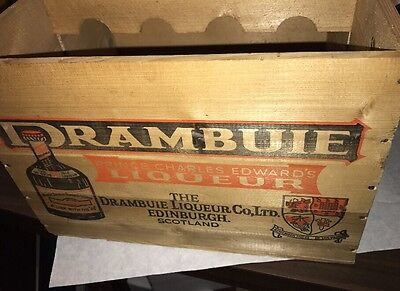 Drambuie Liqueur Original 12 Bottle Case Crate Box Wood Scotch Whisky Scotland!