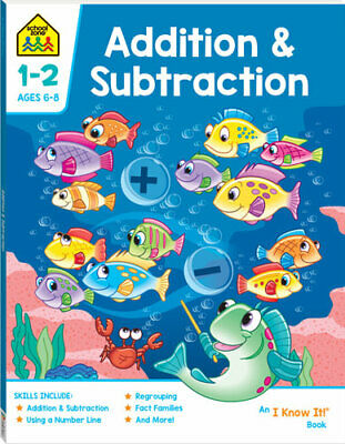 School Zone Addition and Subtraction I Know It Book + FREE SHIPPING