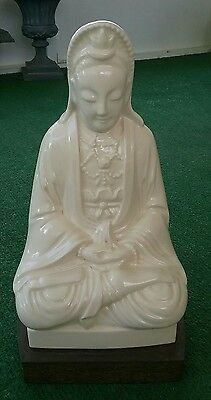 Rare Old Chinese Women  White Glaze Porcelain GuanYin Statue Sculpture