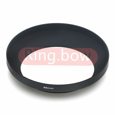 86mm Screw Mount Wide Angle Metal Lens Hood For Canon Nikon Sony Pentax Olympus