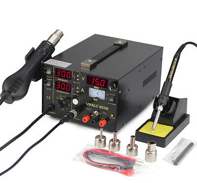 YIHUA 853D Hot Air Rework Station Digital Display Soldering Station 110v or 220v