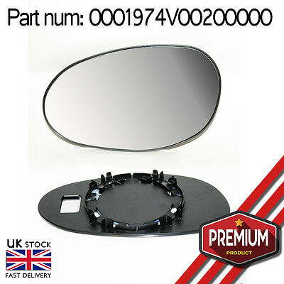 Original Mirror Glass Left Side With Base For Smart For Two 1998 - 2006