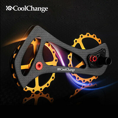 CNC Full Ceramic Bearing Rear Derailleur Cage Pulley Drivetrain Kit For Shimano