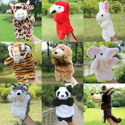 Kids Cartoon Animal Hand Finger Puppets Glove Plush Doll Baby Developmental Toy