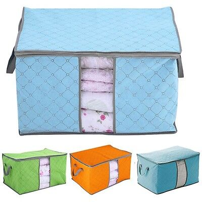 Box Clothes Foldable Blanket Underbed Case Storage Bag Container Organizer
