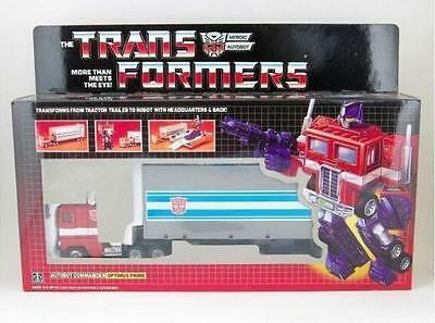 Reissue Transformers G1 Optimus Prime Toy Figure Collection SET MISB with Box