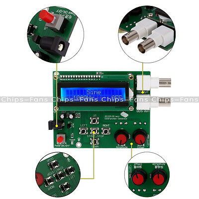 DDS LCD Function Generator Signal Module Sine Square Triangle Wave DC 7V-9V