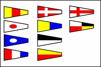 100 set Naval Signal Flags / Flag SET- Each Set 14 Flag - Total 1400 flag