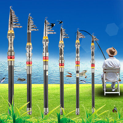 Super Light Carbon Telescopic Pole Saltwater Casting Sea Fishing Rods  SR