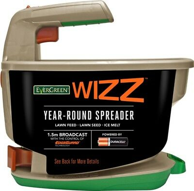 EverGreen Wizz Year Round Battery Operated Garden Handy Lawn Seeder Spreader