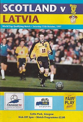 SCOTLAND v LATVIA ~ 11 OCTOBER 1997 ~ WORLD CUP QUALIFIER ~ EXCELLENT CONDITION