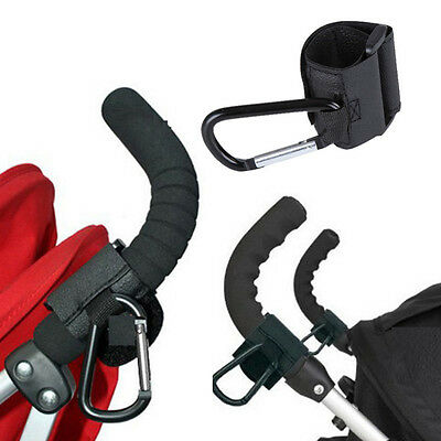 Baby Accessory Buggy Stroller Hook Metal Leather Car Carriage Pram Hanger