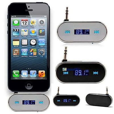 Wireless Music to Car Radio FM Transmitter For 3.5mm MP3 iPod Phones Tablets BO