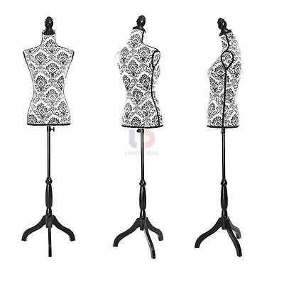 New Female Mannequin Bust Window Torso Dress Form Display with Tripod Stand